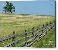Acrylic Print featuring the photograph At Gettysburg by Donald C Morgan