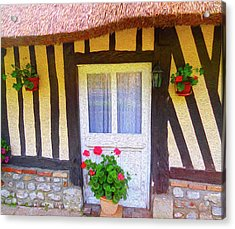 At Home In Normandy Acrylic Print by Ann Johndro-Collins