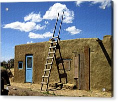 At Home Taos Pueblo Acrylic Print by Kurt Van Wagner