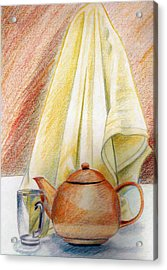 At Kitchen Acrylic Print by Zara GDezfuli