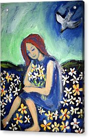 Acrylic Print featuring the painting At Peace by Winsome Gunning