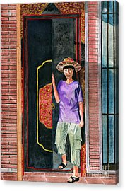 Acrylic Print featuring the painting At Puri Kelapa by Melly Terpening