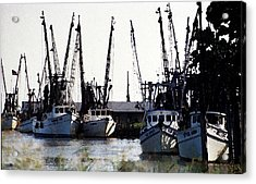 At Rest Watercolor Acrylic Print by Michael Morrison