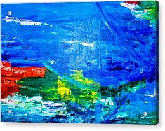 Acrylic Print featuring the painting At Sea by Piety Dsilva