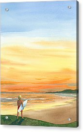 At Sunset Acrylic Print by Ray Cole