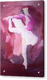 Acrylic Print featuring the painting At The Ballet by Nancy Jolley