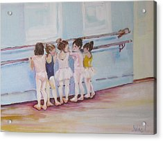 At The Barre Acrylic Print by Julie Todd-Cundiff
