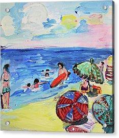 At The Beach Acrylic Print by Amara Dacer