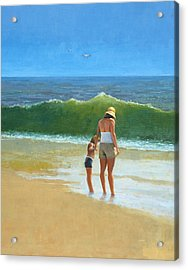 At The Beach Acrylic Print