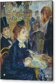 At The Cafe Acrylic Print by Pierre Auguste Renoir