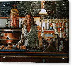 At The Coffee Mill Acrylic Print by Doug Strickland