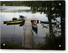 At The Country Dock Acrylic Print by Dennis Curry