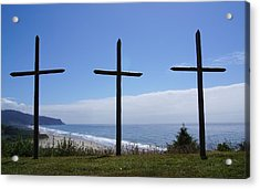 At The Cross Acrylic Print by Angi Parks