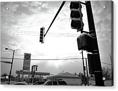 Acrylic Print featuring the photograph At The Crossing by Jeanette O'Toole