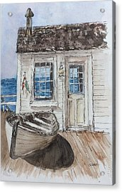 At The Dock Acrylic Print by Stephanie Sodel