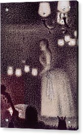 At The Eden Concert Acrylic Print by Georges Pierre Seurat