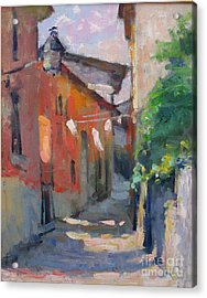 At The End Of The Alley Acrylic Print by Jerry Fresia