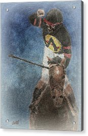 At The Finish Line Acrylic Print by Arline Wagner