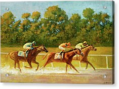 At The Finish Line Acrylic Print