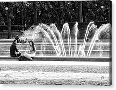At The Fountain Acrylic Print