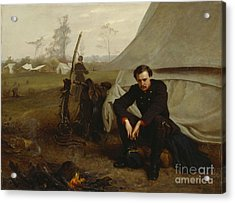 At The Front Acrylic Print by George Cochran Lambdin