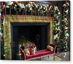 At The Hearth Of Christmas Acrylic Print by Angela Davies