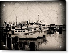 At The Marina - Jersey Shore Acrylic Print