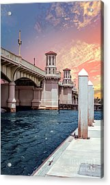 At The Pier Acrylic Print by Richard Burr