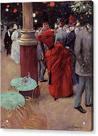 At The Public Garden Acrylic Print by Jean Louis Forain
