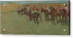 At The Races Before The Start 1875 - 1885 Acrylic Print by Edgar Degas