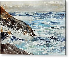 At The Rocks Acrylic Print by Monte Toon