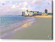 At The Seaside Acrylic Print by Jan Hattingh