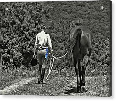 At The Show Blue Ribbon Acrylic Print by JAMART Photography