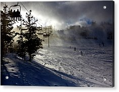 At The Ski Slope Acrylic Print