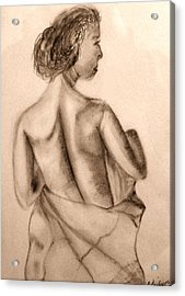 Acrylic Print featuring the drawing At The Spa by Barbara Giordano