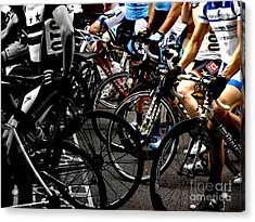 At The Starting Wait Acrylic Print by Steven Digman