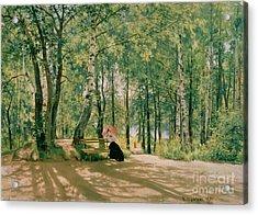 At The Summer Cottage Acrylic Print by Ivan Ivanovich Shishkin