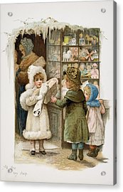 At The Toy Shop Acrylic Print by Vintage Design Pics