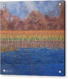 At The Water's Edge Acrylic Print by Harvey Rogosin