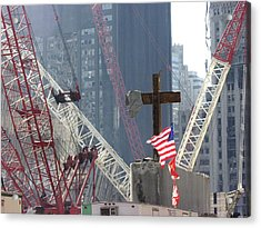 At The World Trade Center Disaster Site Acrylic Print