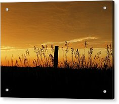 Atchison Sunset Acrylic Print by Dustin Soph