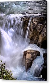 Acrylic Print featuring the photograph Athabasca Falls by Claudia Abbott