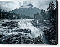 Athabasca Falls Desaturated Acrylic Print