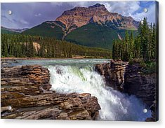 Athabasca Falls Acrylic Print by Heather Vopni