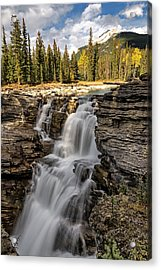 Acrylic Print featuring the photograph Athabasca Falls by John Gilbert