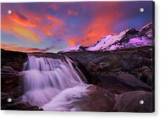 Acrylic Print featuring the photograph Athabasca On Fire by Dan Jurak