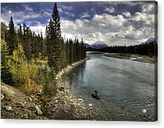 Acrylic Print featuring the photograph Athabasca River by John Gilbert