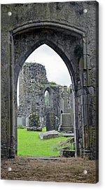 Athassel Priory Ireland Medieval Ruins Arched Doorway To Courtyard Acrylic Print by Shawn O'Brien