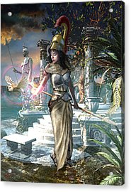 Athena Acrylic Print by Kurt Miller