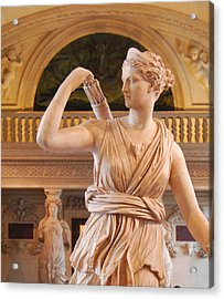 Acrylic Print featuring the digital art Athena Statue by Nancy Bradley
